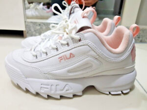 Details about 2018 FILA DISRUPTOR II WHITE PINK FS1HTA1074X_WPK 100%  authentic