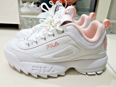 2018 FILA DISRUPTOR II WHITE PINK FS1HTA1074X_WPK 100% authentic | eBay