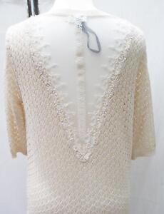 wholesale dealer 08c4a b6324 Details zu EDEL! Molly Bracken Cardigan Strickjacke neu Spitze creme  onesize S M L NP 59,95