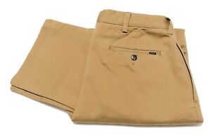 Polo-Ralph-Lauren-Men-039-s-Classic-Fit-Pleated-Chino-In-Khaki-Size-34W-30L