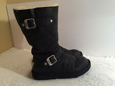 7e6b1ddd04b UGG Australia 1969 Kensington Leather Boot Sheepskin Kids Black Y 5 ...