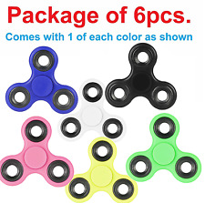 6 Pack (6x) Various Color Fidget Spinner Toy EDC Hand Spinner Desk Focus ADHD