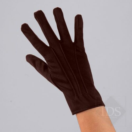 IN STOCK Adult Brown Short Cotton Gloves Dance Fancy Dress Costume