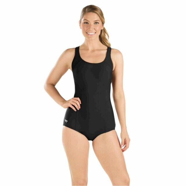 Speedo Women's Powerflex Conservative Ultraback, Speedo Black, Size 8.0 VtmO