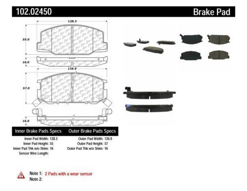 Disc Brake Pad Set-C-TEK Metallic Brake Pads Front Centric 102.02450