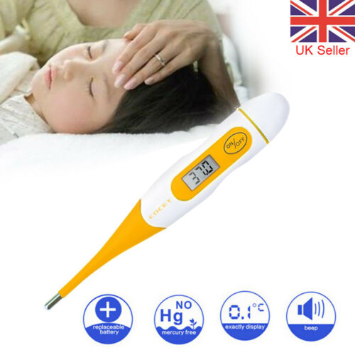 LCD Digital Thermometer Health Body Fever Check Temperature For Baby Kids Adults