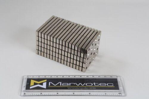 1 NEODYM QUADER MAGNET 30x10x5 mm mit 2x BOHRUNG SENKUNG N45 7 KG ANSCHRAUBEN