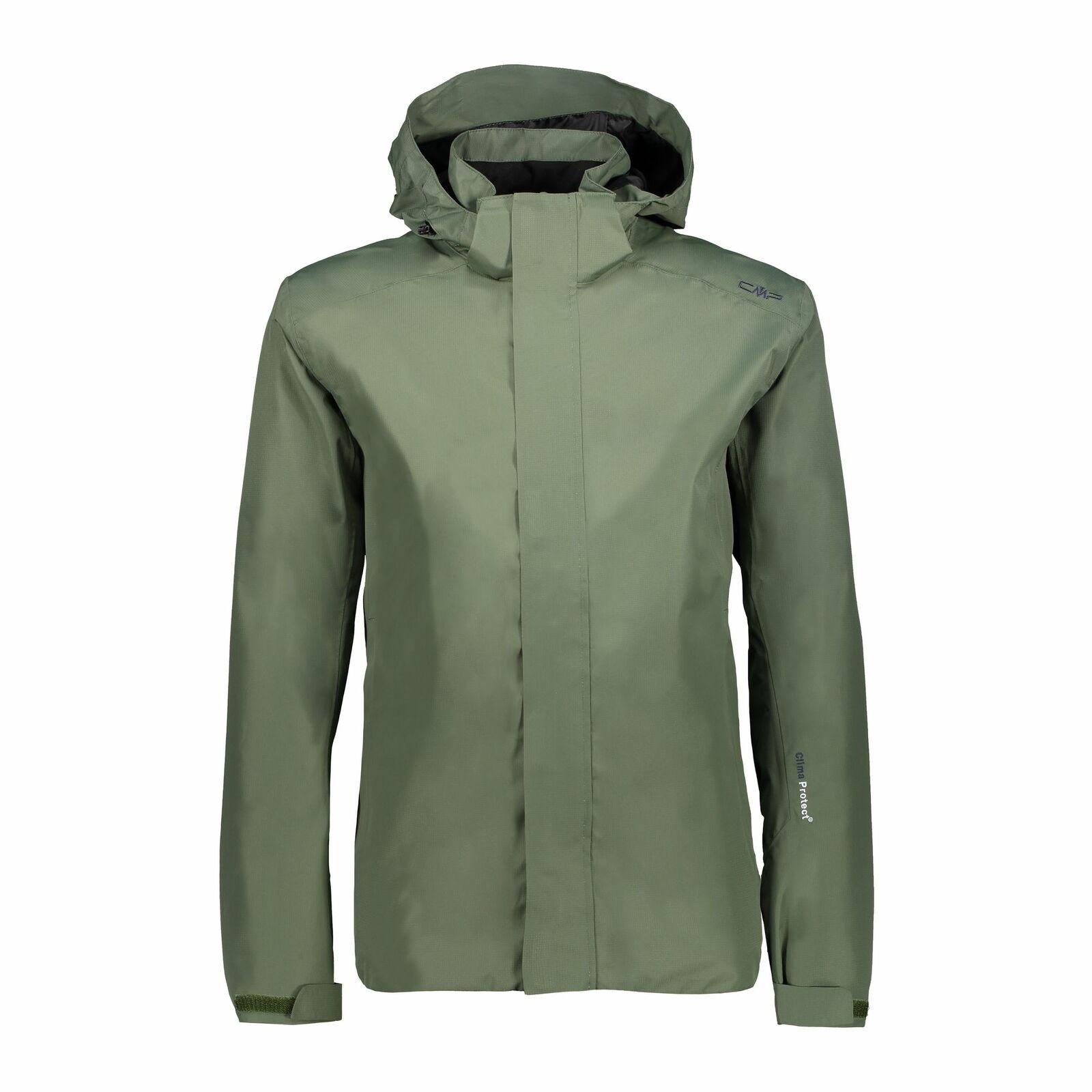 CMP Outdoorjacke Jacke Man Zip Hood jacke grün wasserdicht atmungsaktiv
