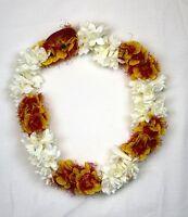 Hawaiian Lei Party Luau Floral Tuberose Alii Tuberose Flower White Orange Open