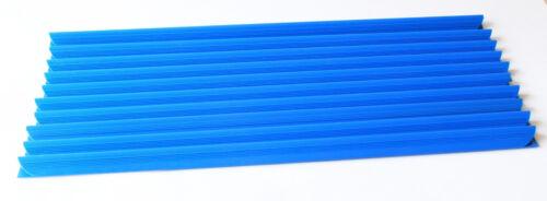 10x Klemmschiene Klemmbinder Klemmen blau DIN A4 Clip Klemmschienen Klemme 3-6mm