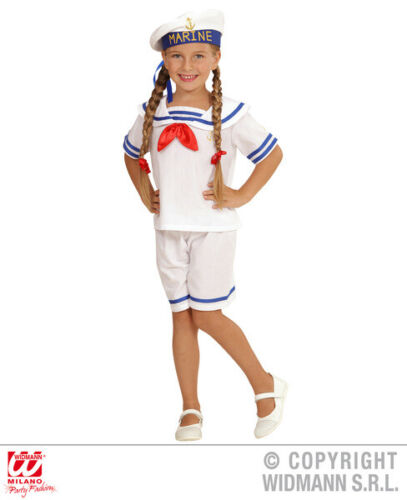 Girls Kids Childs Retro Sailor Fancy Dress Costume Nautical Outfit 2-13 Yrs