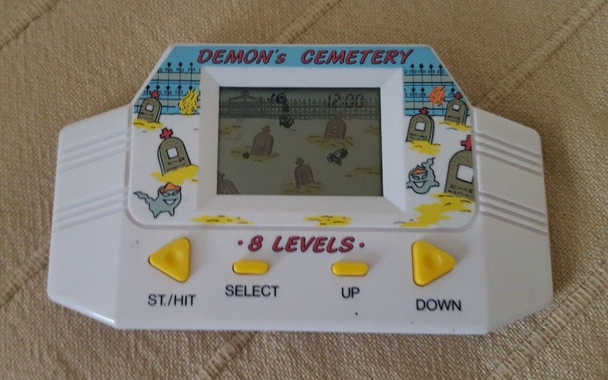 Demon's Cemetery Electronic LCD Handheld Retro Vintage Classic Game Very Rare