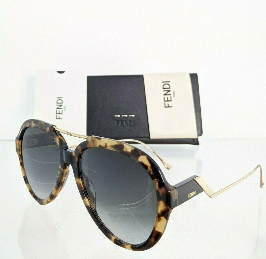 Brand New Authentic Fendi FF 0322/S Sunglasses 0869O Tortoise & Gold Frame 0322