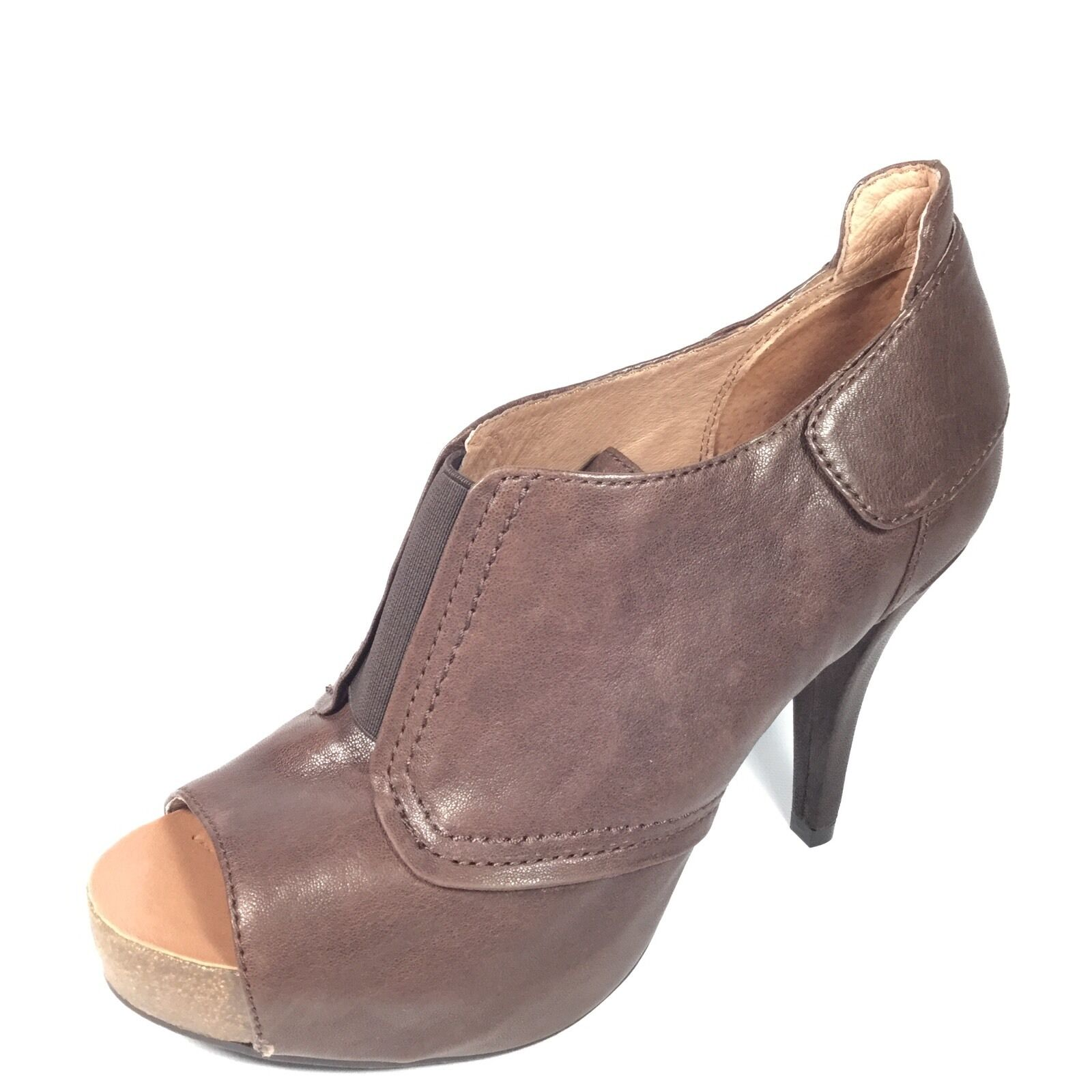 Vince Camuto PERNOT Women's Size 8.5 M M M Brown Leather Open Toe Heels Booties. 798441
