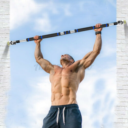 "39/"" 440lbs Pull Up Bar Indoor Pull Up Bar Doorway Workout Home Exercise Fitness"