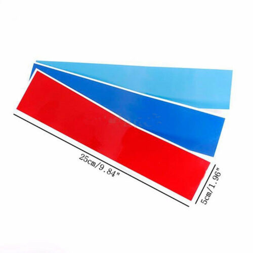 """10/"""" M-Colored Kidney Grill Stripe Decal Sticker Decoration For BMW M3 M5 M6 E46"""