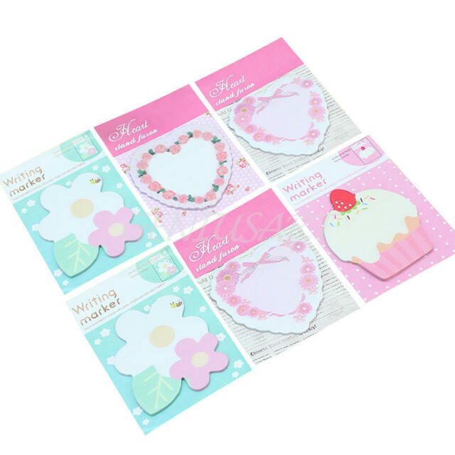 6xMulticolor Cute Sticker Bookmark Sticky Notes Point Marker Memo Post Tab Flag