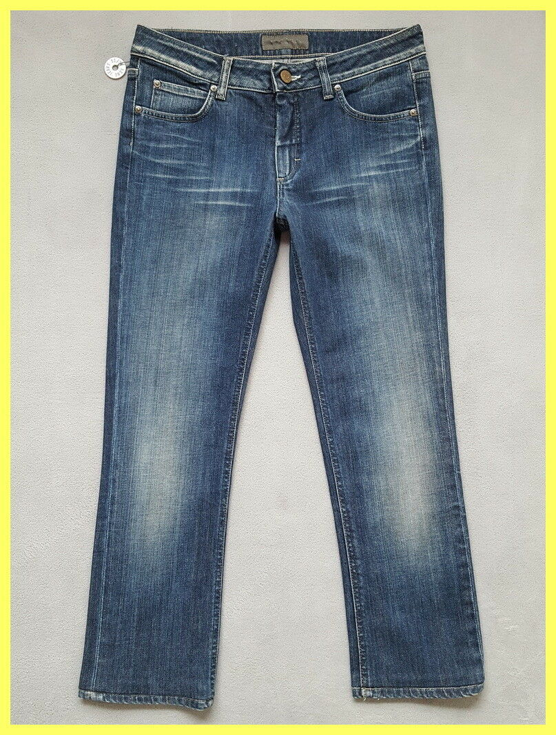 NWOT ACNE blueE HEX PURE CROPPED CROP ANKLE SLIM SKINNY STRAIGHT JEANS 30 ITALY