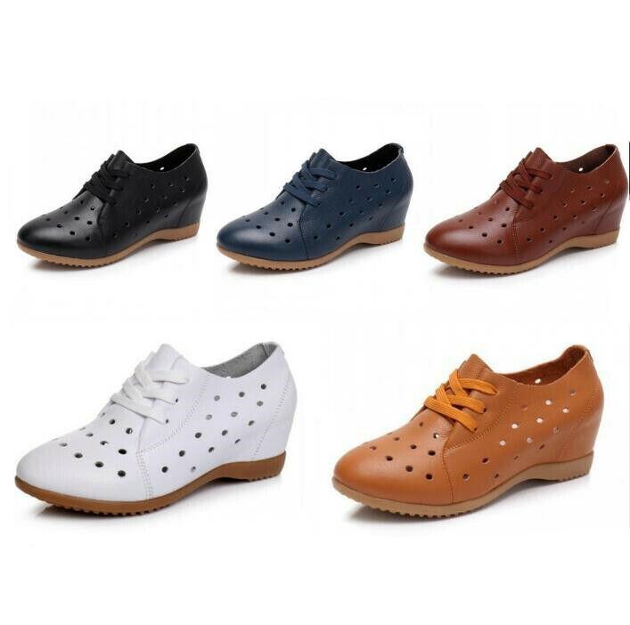 migliore offerta donna Casual Nurse Hollow Leather Lace up Wedge Inside Oxfords Oxfords Oxfords scarpe Loafers US  marche online vendita a basso costo
