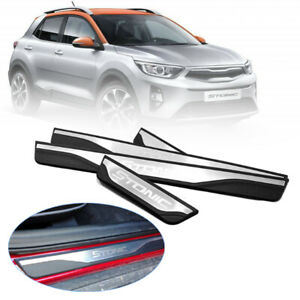 Car Door Sill Guards Stainless Steel Scuff Plate Trim For KIA STONIC 2017-2019