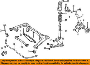 Audi Oem 9601 A4 Quattro Rear Suspensionstrut Mount 8d0512342 Ebay. Is Loading Audioem9601a4quattrorearsuspension. Audi. 1999 Audi A4 Exhaust System Diagram At Scoala.co