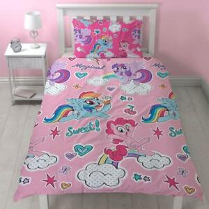 Copripiumino My Little Pony.Nuovo My Little Pony Singolo Set Copripiumino Ragazze Bambini Rosa