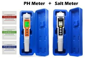 Swimming Pool Ph Meter Tester And Salt Salinity Meter