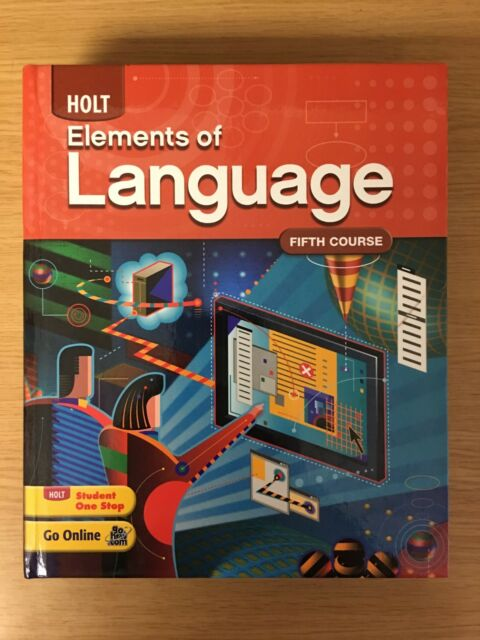 Holt Elements Of Language Fifth Course Student Edition Like New