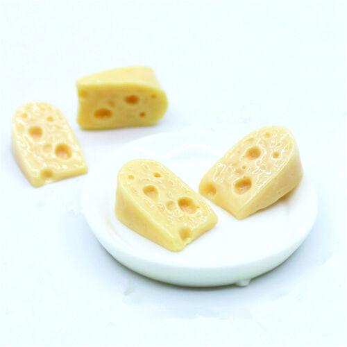 10pcs Dollhouse Miniature Cheese Slices Toys Doll Mini Food Tiny Yellow Cheese