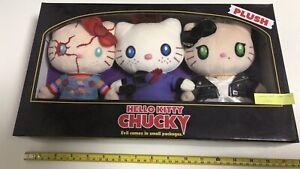 Hello Kitty x Chucky PLUSH 3 set unopened box Halloween usj 2019 japan