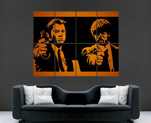 PULP-FICTION-FILM-SAMUEL-JACKSON-JOHN-TRAVOLTA-LARGE-WALL-ART-POSTER-PICTURE