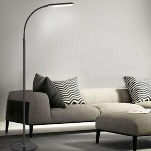 Image Is Loading US Led Floor Lamp Adjustable Standing Light Gooseneck