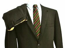 Abercrombie & Fitch 60s vtg Worsted Tweed Suit 42S 36X27 Birdseye Brown 3/2 Roll