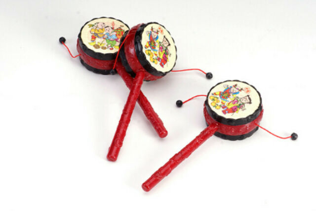 Chinese Traditional Rattle Drums Classic Toys Noise Maker Baby Toys JR EB
