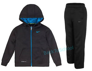 Details about NIKE KO 2.0 Full Zip Therma FIT Fleece Hoodie Sweatpants Set Boys Sizes 4, 5
