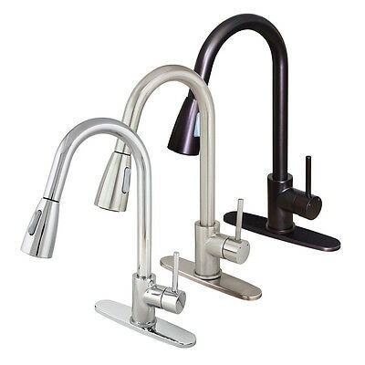 """16"""" Pull Down Kitchen Sink Faucet Dual-Spray Single Handle Soap Dispenser Cover"""