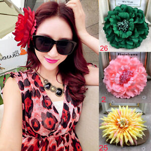 6683ce482 Hot Fake Peony Flower Lady Girl Summer Beach Hair Clips Hairpin ...