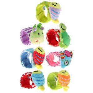 Infant-Baby-Cute-Animal-Wrist-Rattles-Foot-Sock-Soft-Sensory-Developmental-Toys
