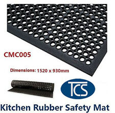 TCS Large Kitchen Bar Wet Rubber Safety Mat 1520x930mm Standard Non-Slip Matting