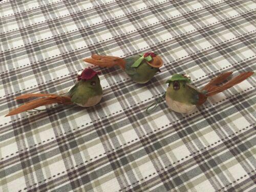 Lot Of 3 Katherine/'s Collection Bird ornaments Holiday Decorative Birds NIP