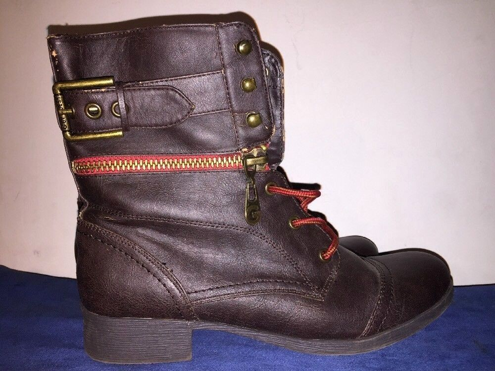 G BY Guess GX Trenton Boots Faux Leather Nellie Chukka BOOTS Women shoes Sz 8.5