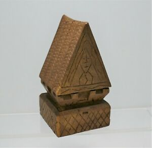 Vintage Central American Folk Art Wood Carved Structure - Museum Piece