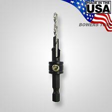 Snappy 5 x 40mm Confirmat Screw 2 Step Countersink Brad Point Bit 1/4 Hex USA