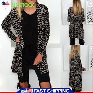 Womens-Autumn-Long-Sleeves-Leopard-Print-Cardigans-Loose-Coat-Jackets-Outwear-US