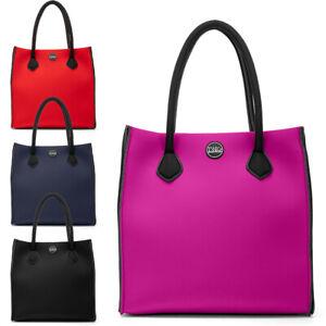 Borsa donna TWIG DERRIDA Made in Italy shopping bag Fusion Collection neoprene