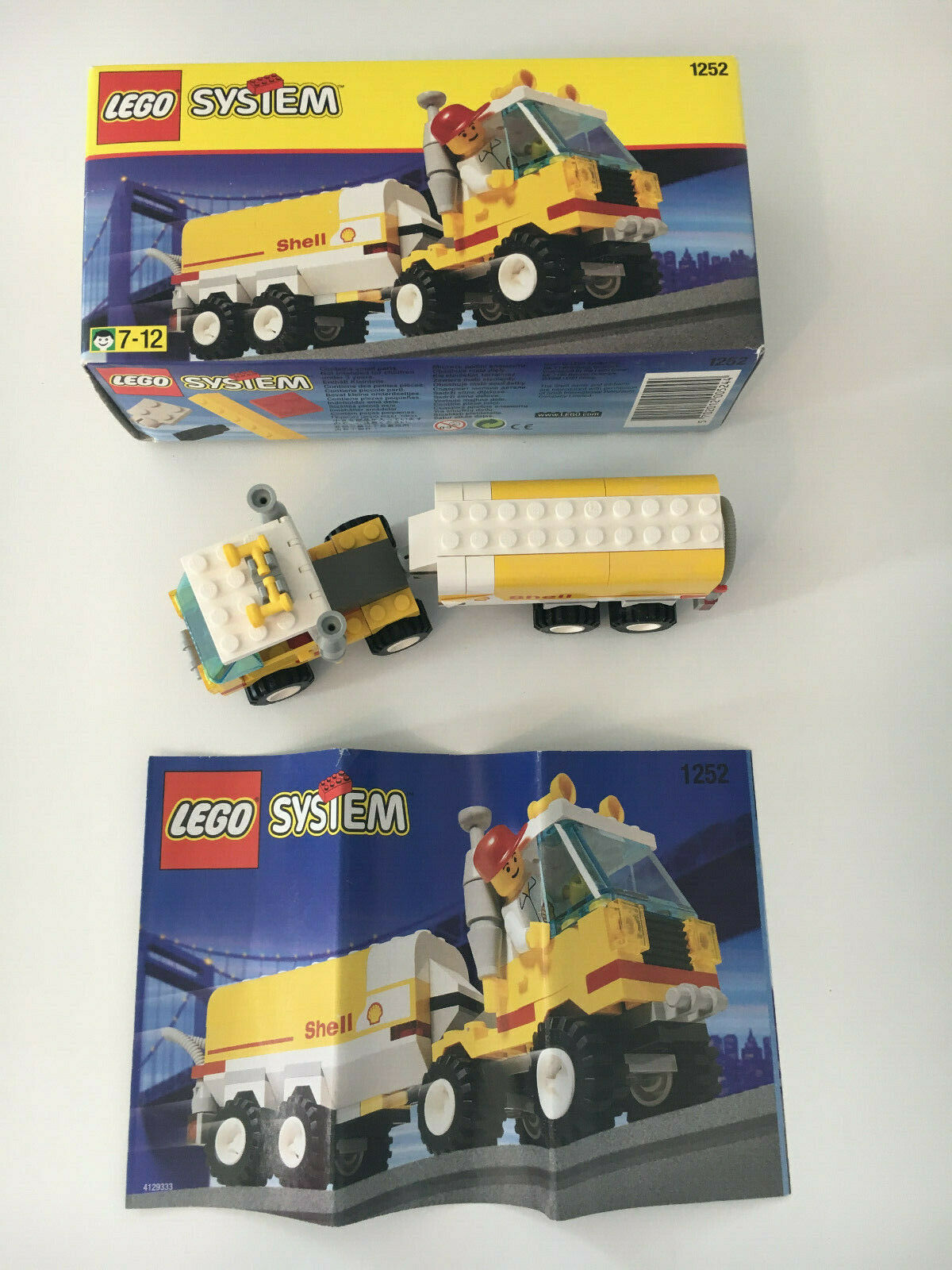 Lego 1252 Shell Tanker mit Bauanleitung und OVP
