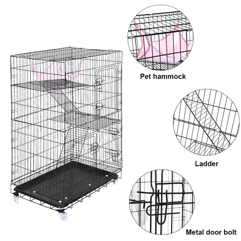 PET BUNNY INDOOR OUTDOOR WIRE CAGES RABBIT CAGE POLY DOOR TRIM GUARDS FOR MEAT