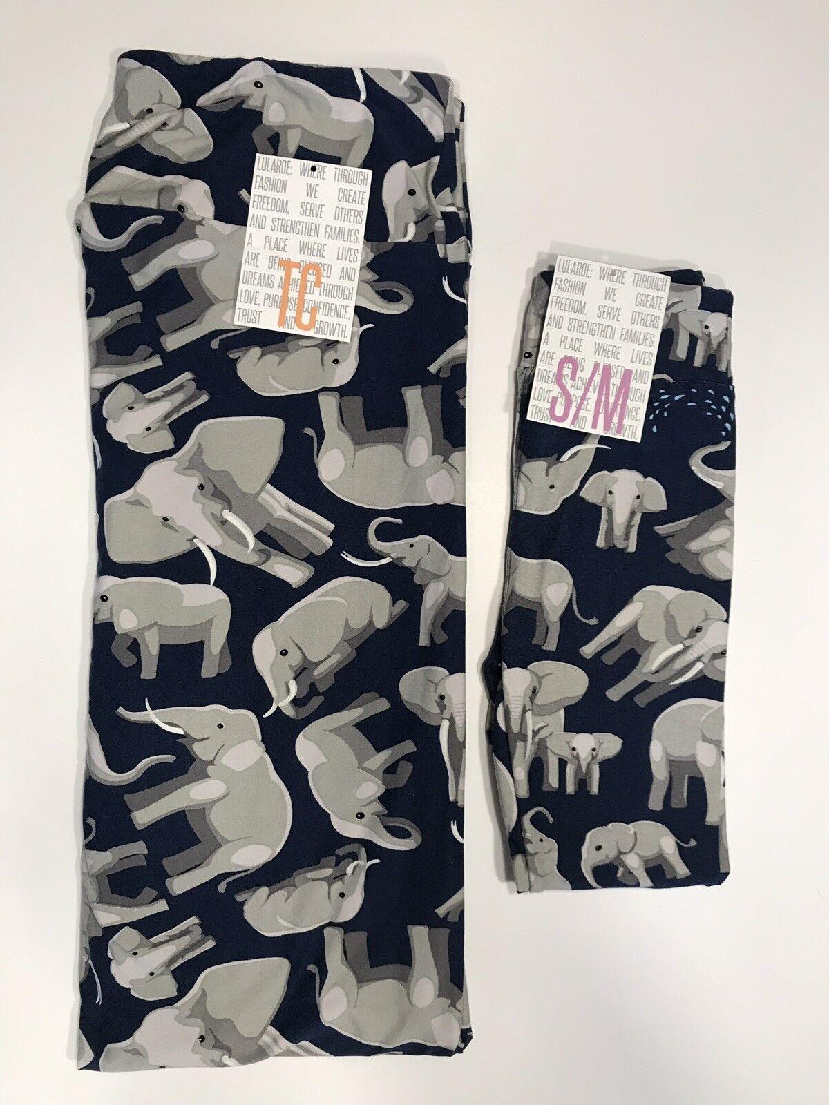 04080182ae65d7 Lularoe Leggings TC & Kid sm Mommy & Me bluee Grey NEW Elephant oaytcu5770- Leggings
