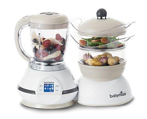 Babymoov procesador de alimentos multifuncional para bebe Nutribaby 5 en 1 Crema