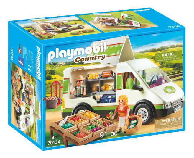 PLAYMOBIL Furgone  Mercato Bio 70134 PLAYMOBIL  presentando tutte le ultime tendenze della moda